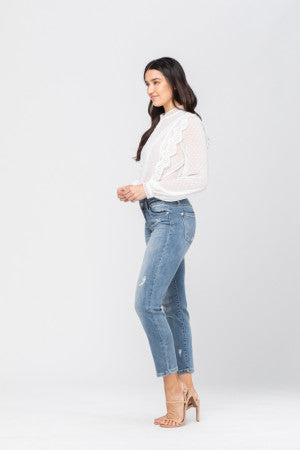 Double Waistband Relaxed Fit Jeans
