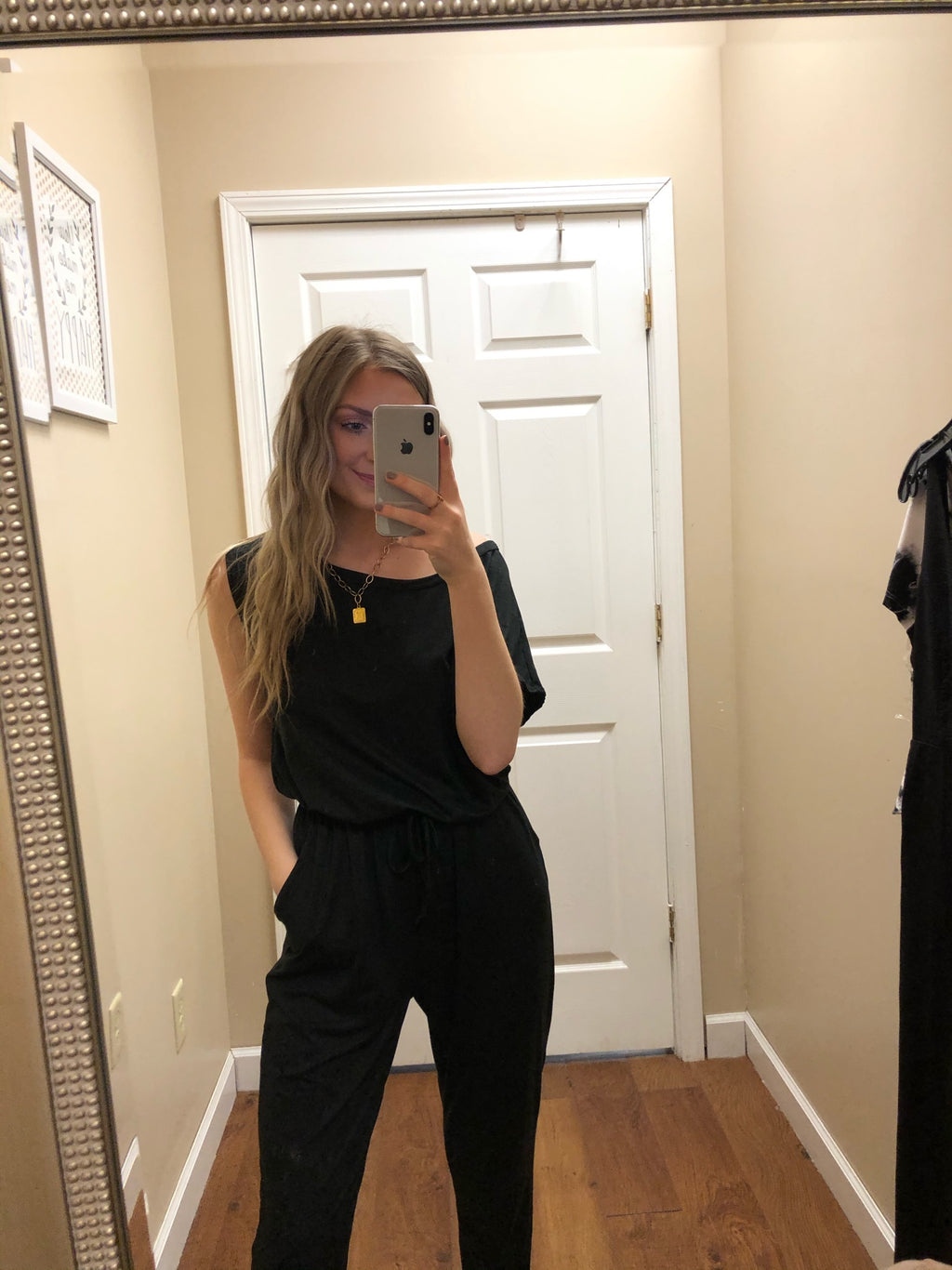 Casual Knit Solid Jumpsuit