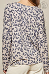 Plus Long Sleeve Leopard Knit Top