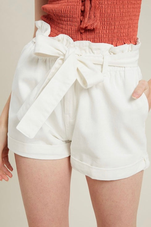 Belted Denim Shorts - Free Souls Boutique