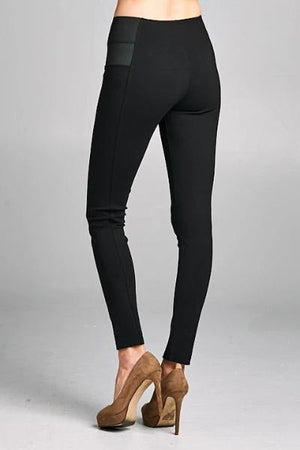 Side Band Ponte Pants - Free Souls Boutique