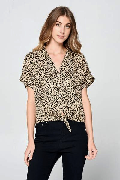 Leopard Print Top - Free Souls Boutique