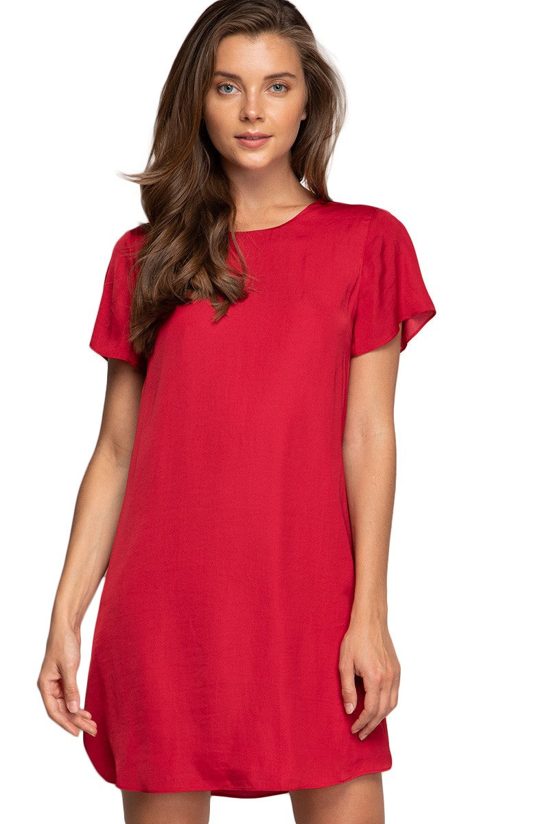 Flutter Sleeve Tie Back Dress - Free Souls Boutique