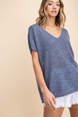 Low Gauge SS Sweater Top - Free Souls Boutique