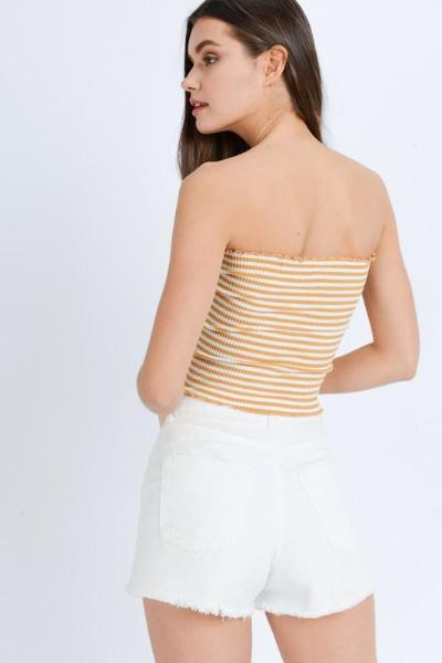 Ribbed Stripe Tube Top - Free Souls Boutique