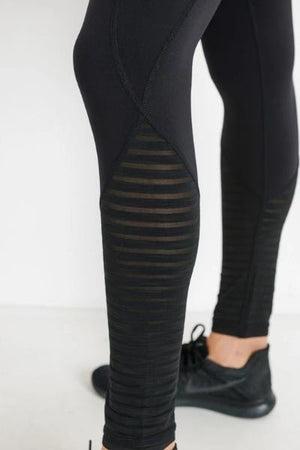 Burnout Calves High Waist Leggings