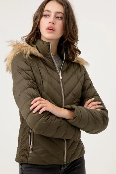 Fur Hood Puffer Jacket - Free Souls Boutique