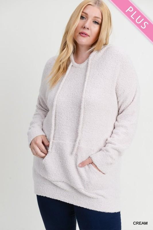 Plus Plush Hooded Pullover Top