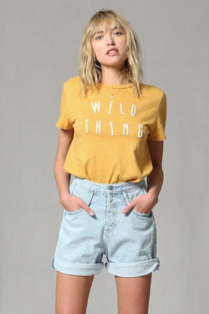 Wild Thing Stitched TShirt - Free Souls Boutique