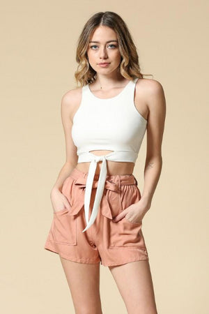 Ribbed Cut Out Crop Top - Free Souls Boutique