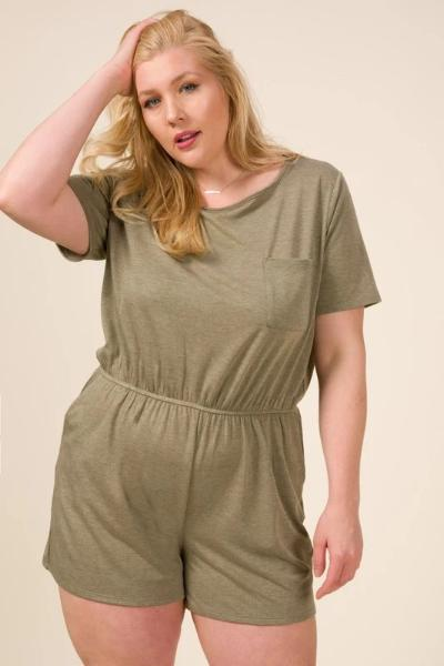 Plus French Terry Pocket Romper