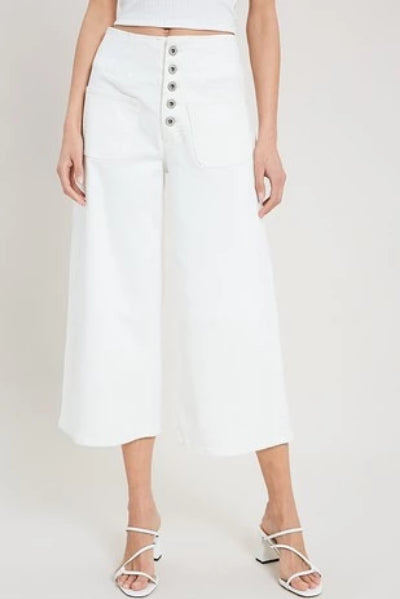 Cropped Wide Leg Front Pocket Jeans - Free Souls Boutique