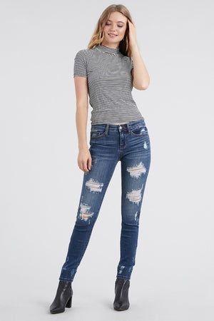 Distressed Front And Ankle Skinny Jeans - Free Souls Boutique