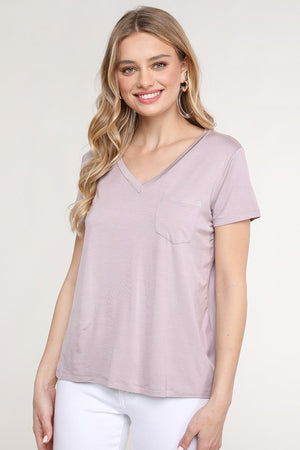 Emma VNeck Pocket Top