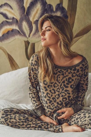 Brushed Leopard LS Top - Free Souls Boutique
