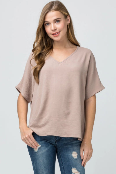 Asymmetric V-Neck Top