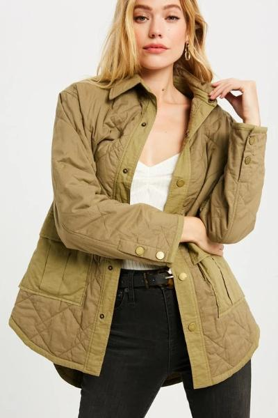 Oversized Quilted Jacket - Free Souls Boutique