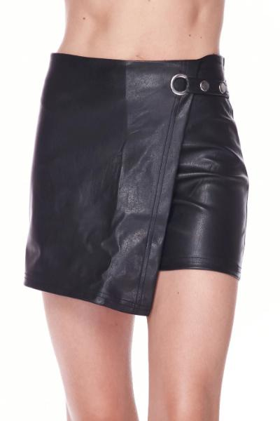 Leather Wrap Skirt - Free Souls Boutique