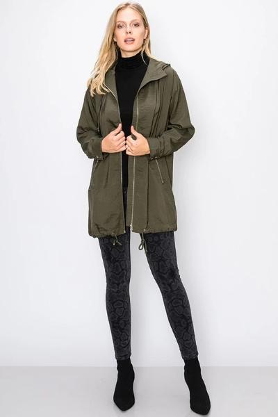 Hooded Nylon Jacket - Free Souls Boutique