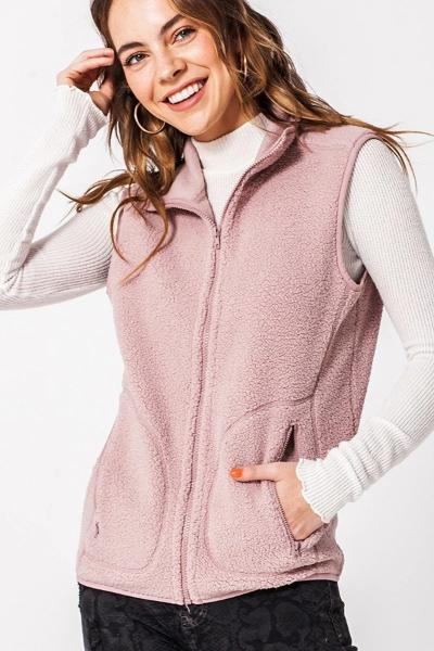 Thin Sherpa Pocket Vest - Free Souls Boutique