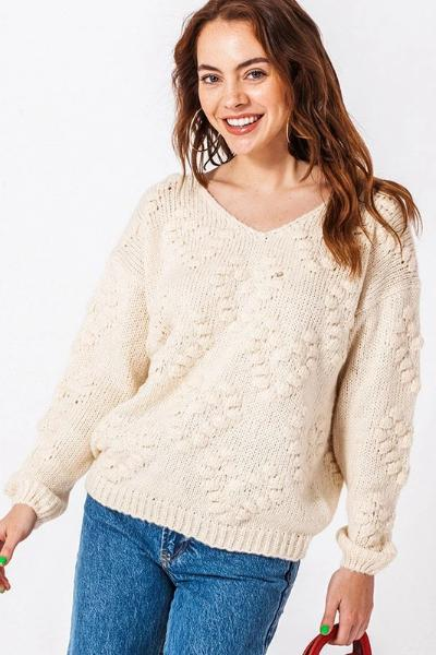 Chunky Heart Sweater - Free Souls Boutique