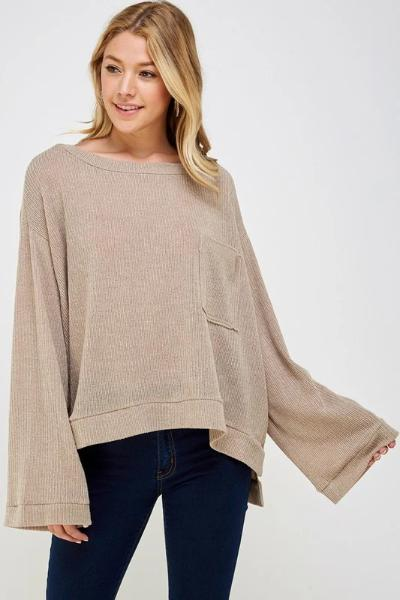 Sophia Loose Sweater Top - Free Souls Boutique