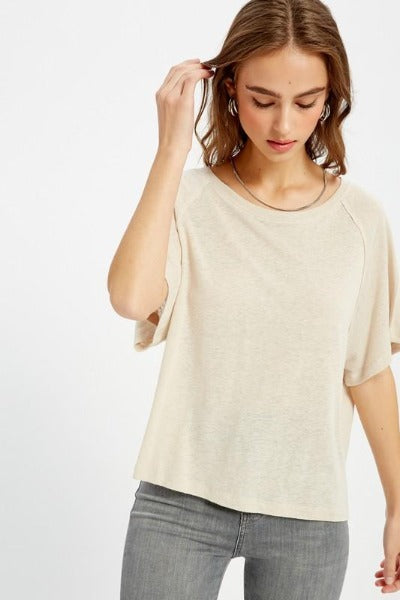 Linen Knit Casual Top