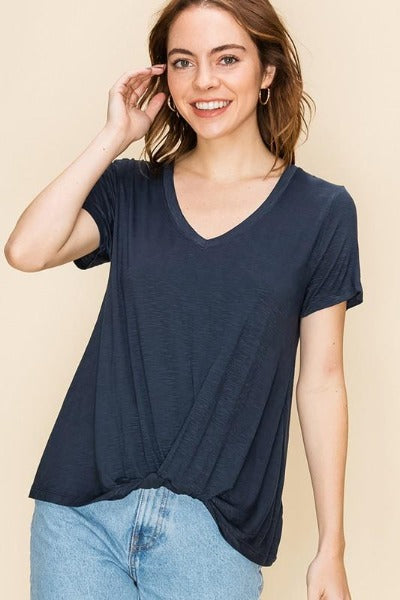 Simple Twist Front Top
