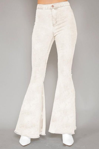 Washed High Waist Flare Jeans