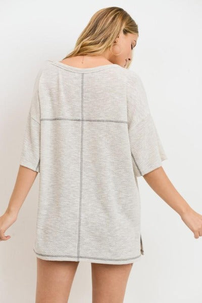 Casual Knit Vented Top