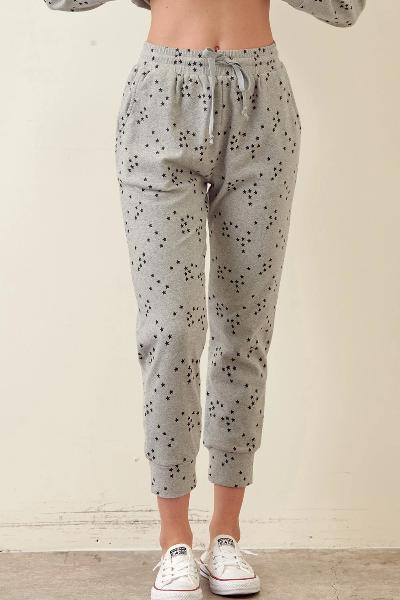 Star Print Jogger Pants - Free Souls Boutique