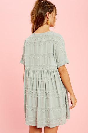Textured Babydoll Tunic Dress