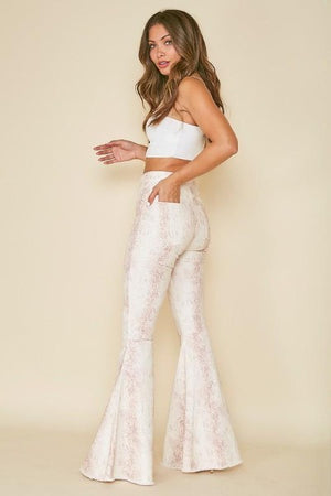 Reptile High Waist Flare Jeans