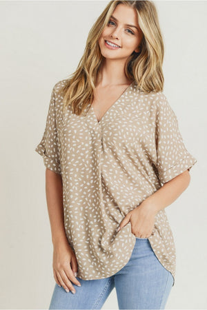 Speckled Single Pleat Top