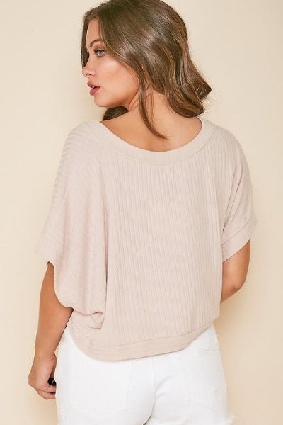 Solid Ribbed Crop Top