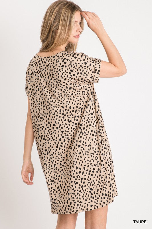 Dalmatian Side Pocket Knit Dress