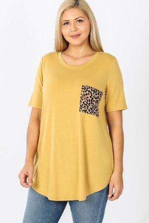Zen Leopard Pocket SS Top