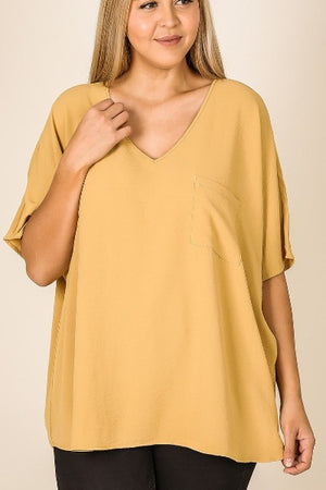 Plus Zen Dolman SS Pocket Top