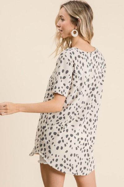 Dalmation Terry Top
