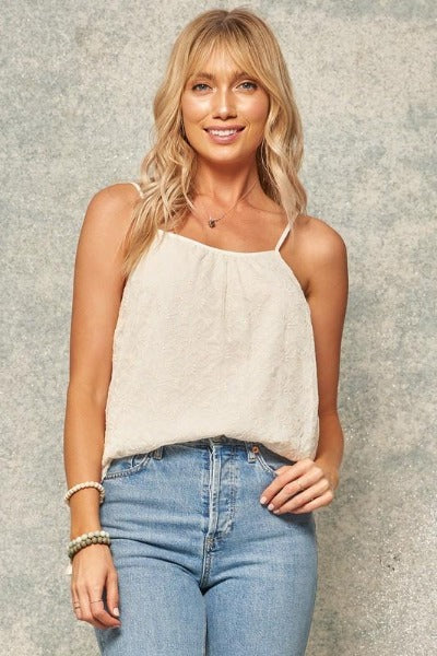 Embroidered Lace Cami Top