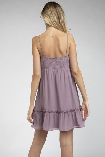 Smock Back Mini Dress