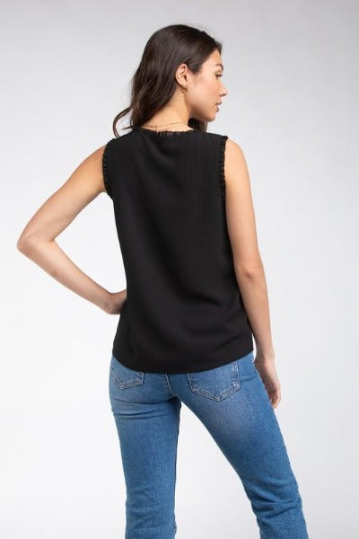 Frill Detail Sleeveless Top