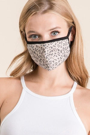 Contrast Cheetah Face Mask