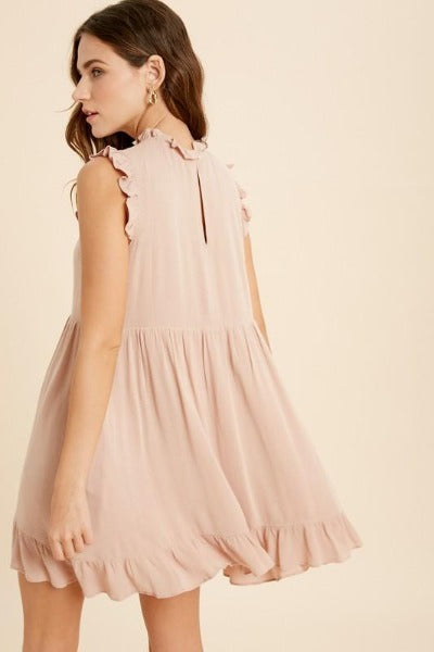 Sleeveless Crinkle Babydoll Dress