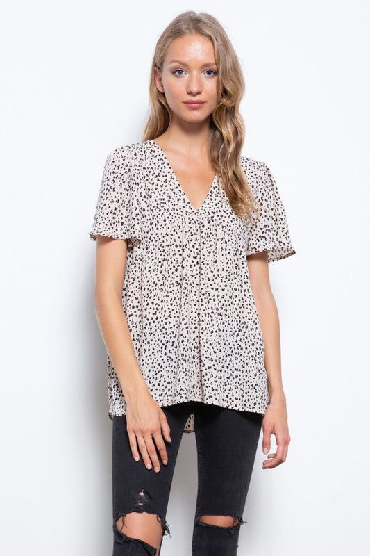 Splash Dot Babydoll Top