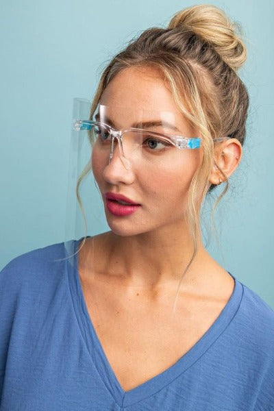 Clear Face Shield with Glassses