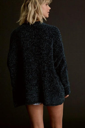 Chunky Chenille Cardigan