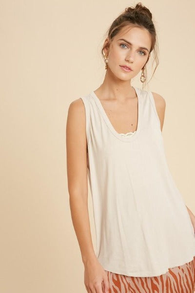 Scoop Knit Tank Top