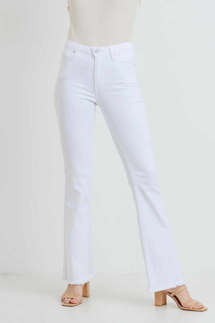 Just Fray Hem Flare Jeans