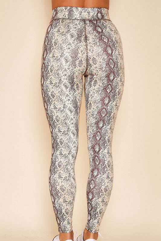 Snakeskin High Waist Leggings